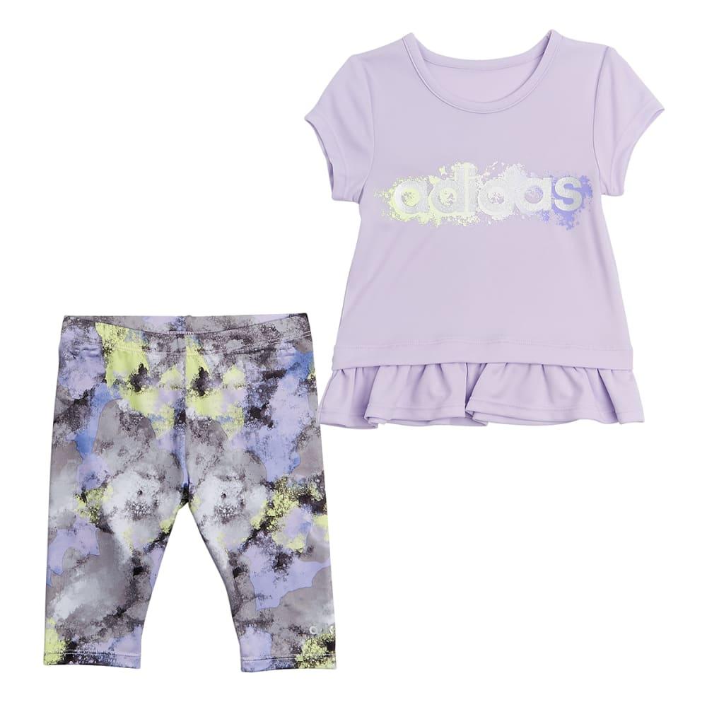 ADIDAS Little Girls' Power Capri Tight and Short-Sleeve Tee Clothing Set 4