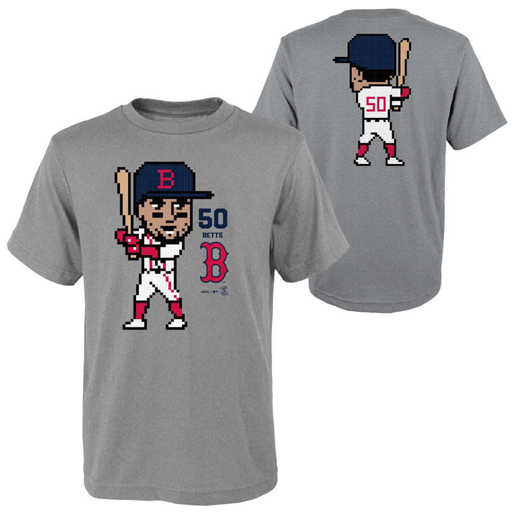 BOSTON RED SOX Boys' Mookie Betts #50 8 Bit Pixel Player Tee S