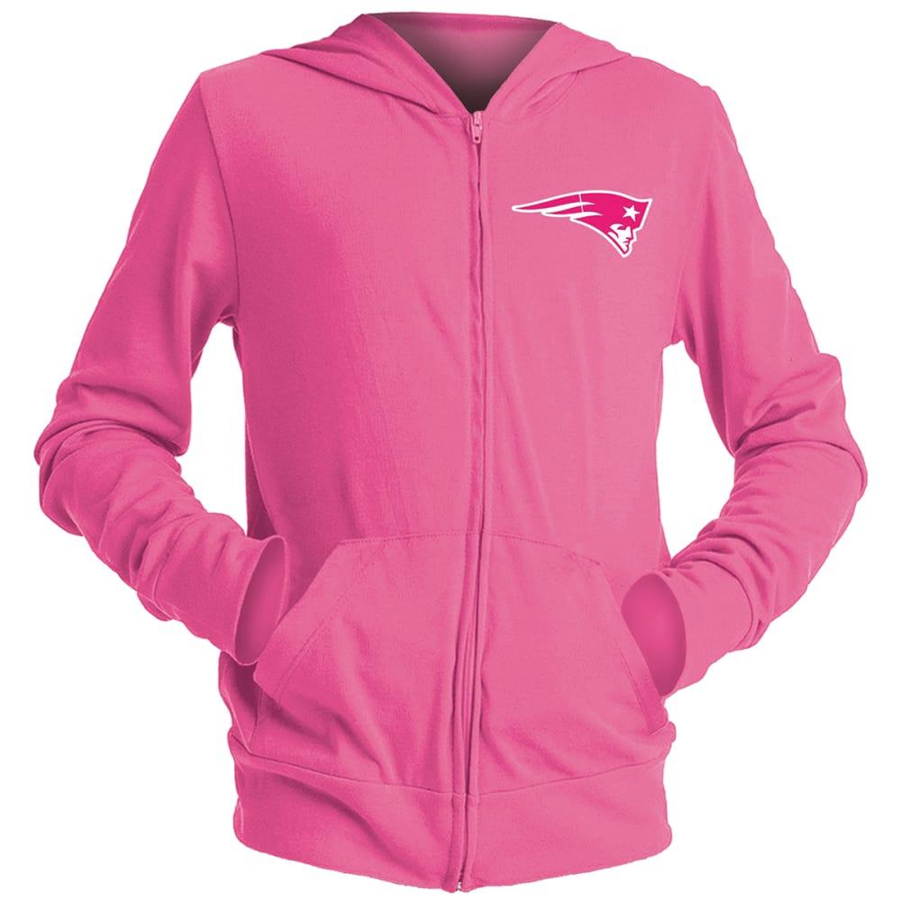 NEW ENGLAND PATRIOTS Girls' Full-Zip Pink Fleece Hoodie 6/6X