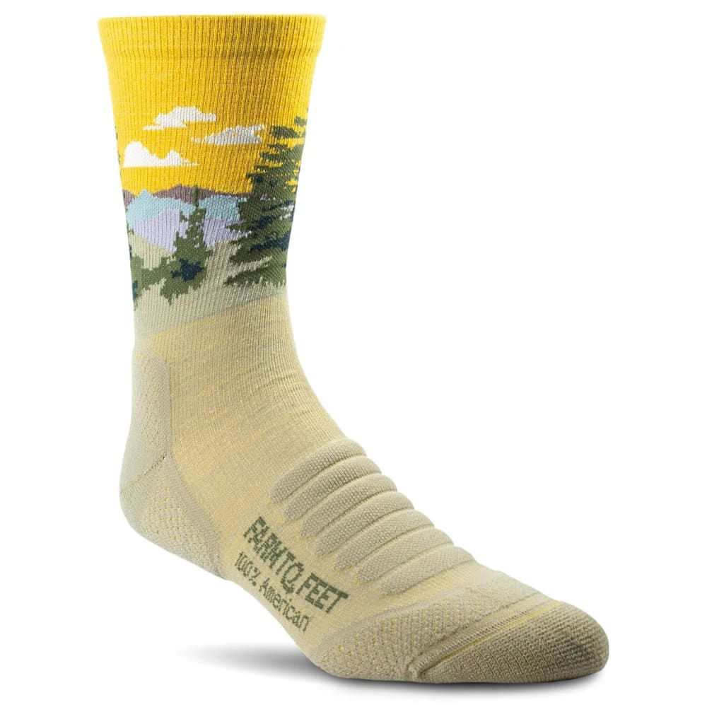 FARM TO FEET Men's Cascade Locks 3/4 Crew Socks M