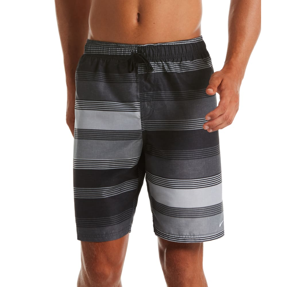 "NIKE Men's Linen Stripe 9"" Volley Swim Shorts L"