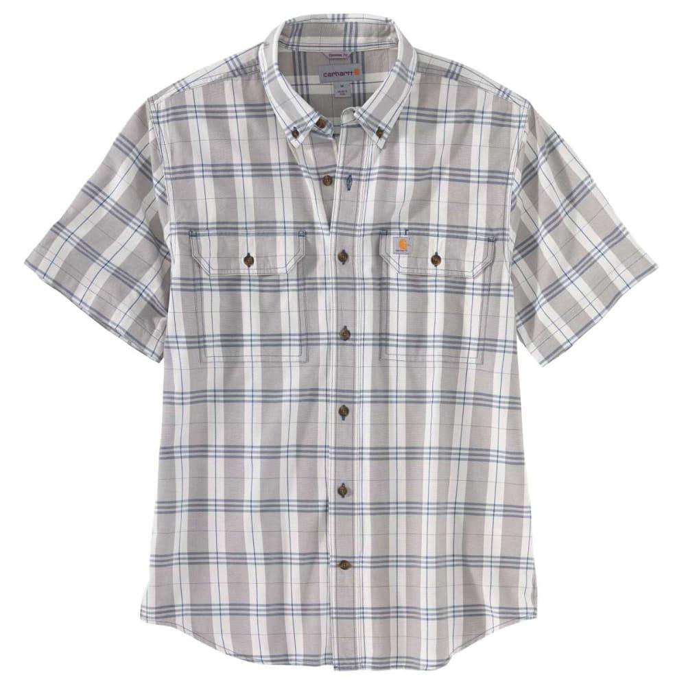 CARHARTT Men's Short-Sleeve Original Fit Midweight Plaid Shirt M