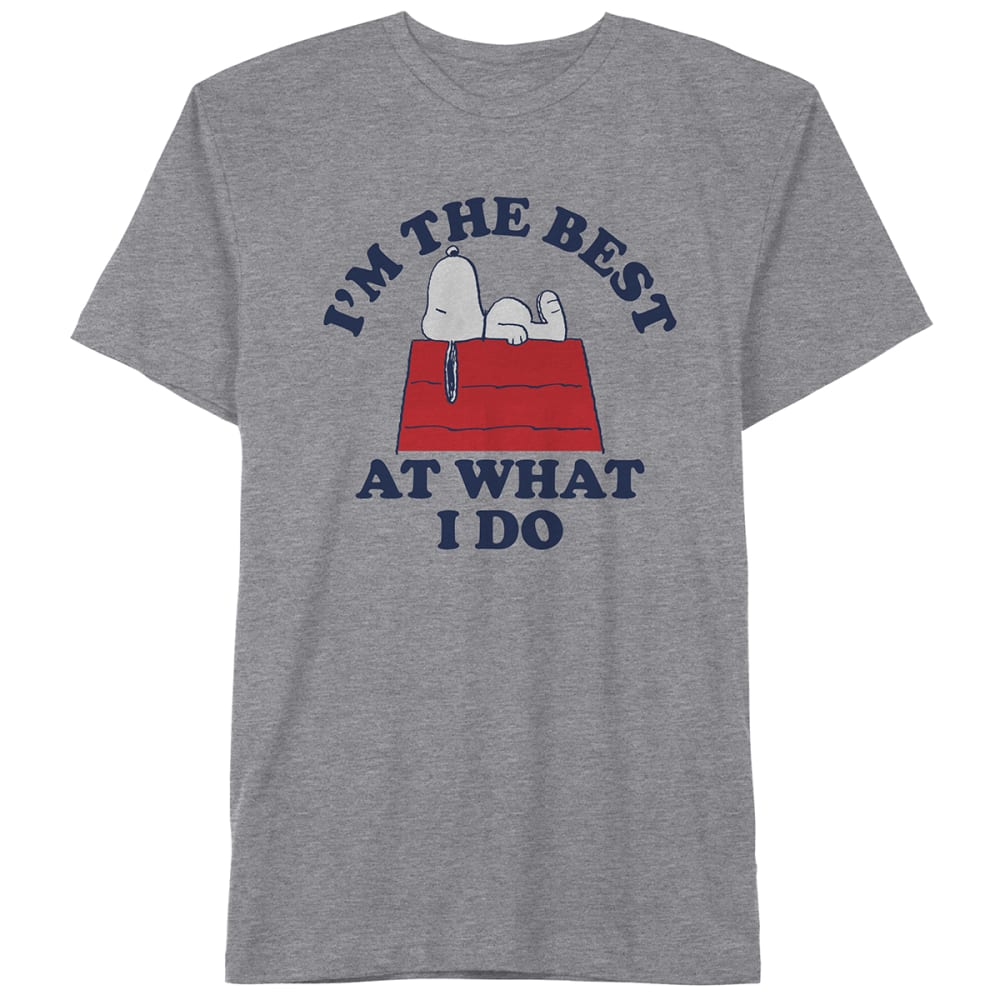 PEANUTS Guys' I'm The Best At What I Do Short-Sleeve Graphic Tee S