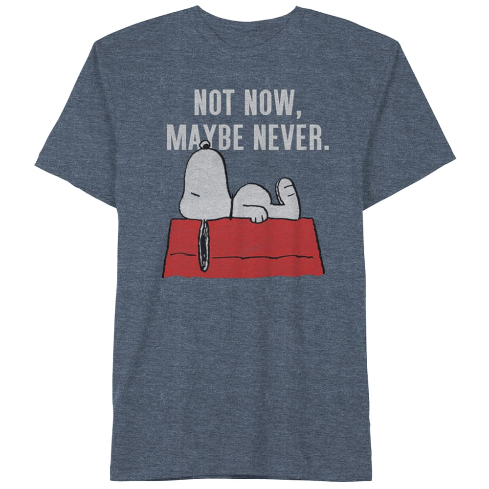 PEANUTS Guys' Not Now Maybe Never Short-Sleeve Graphic Tee S