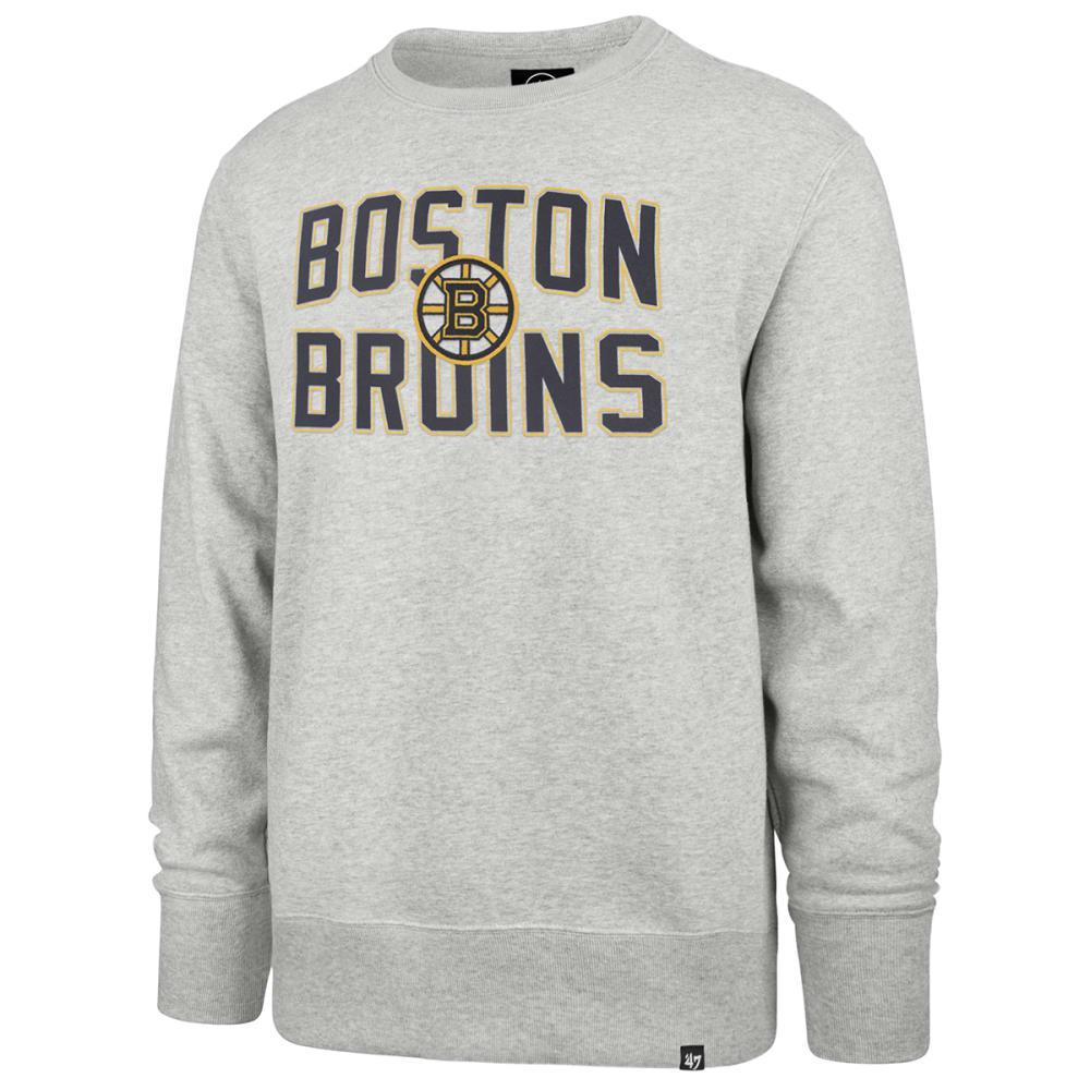 BOSTON BRUINS Men's Gamebreak Applique Crewneck Sweatshirt M