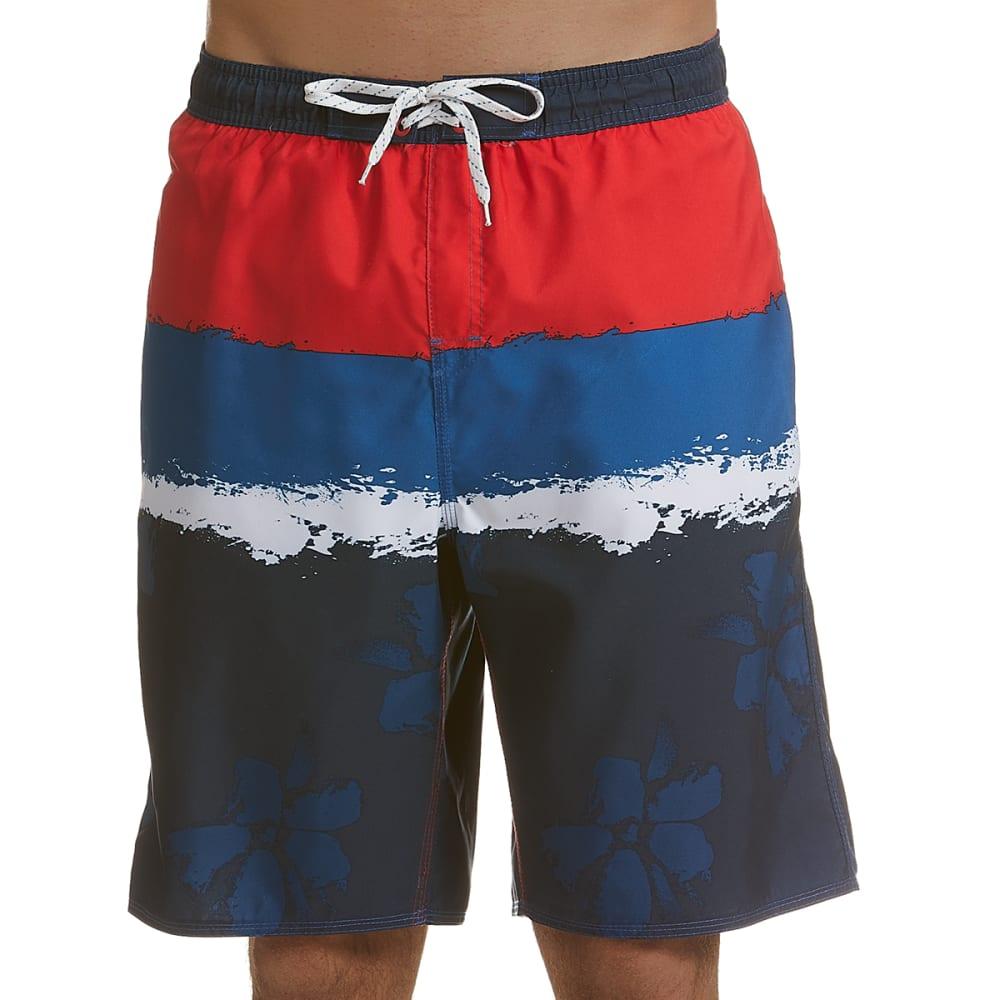 BURNSIDE Men's Flower Power Swim Shorts L