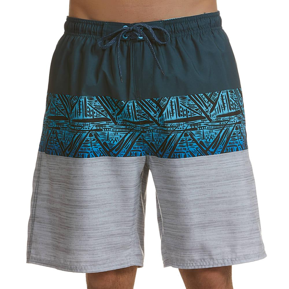 BURNSIDE Men's Native Swim Shorts L
