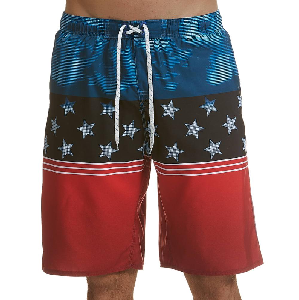 BURNSIDE Men's American Dream Swim Shorts S