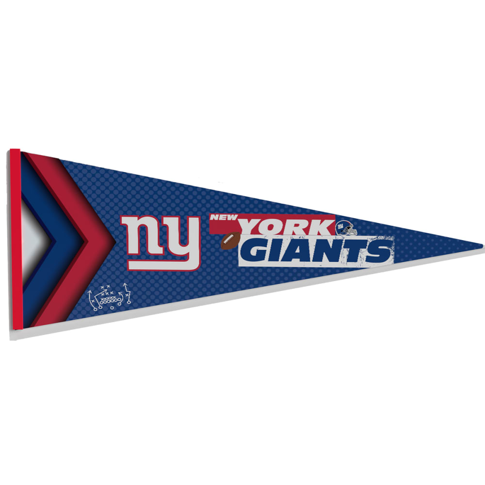 NEW YORK GIANTS FanFave Foam Pennant Sign NO SIZE