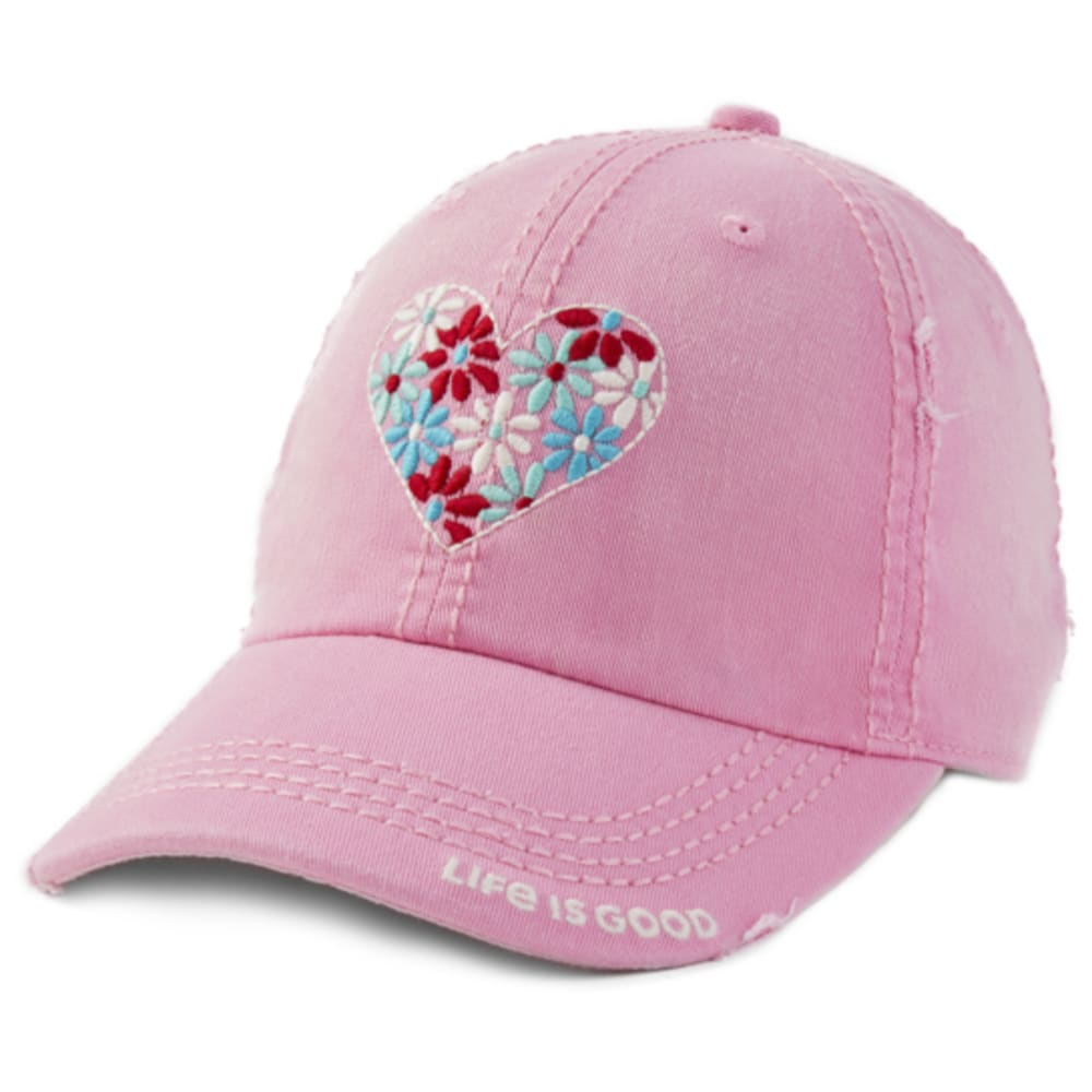 LIFE IS GOOD Women's Flower Heart Sunwashed Chill Cap ONE SIZE