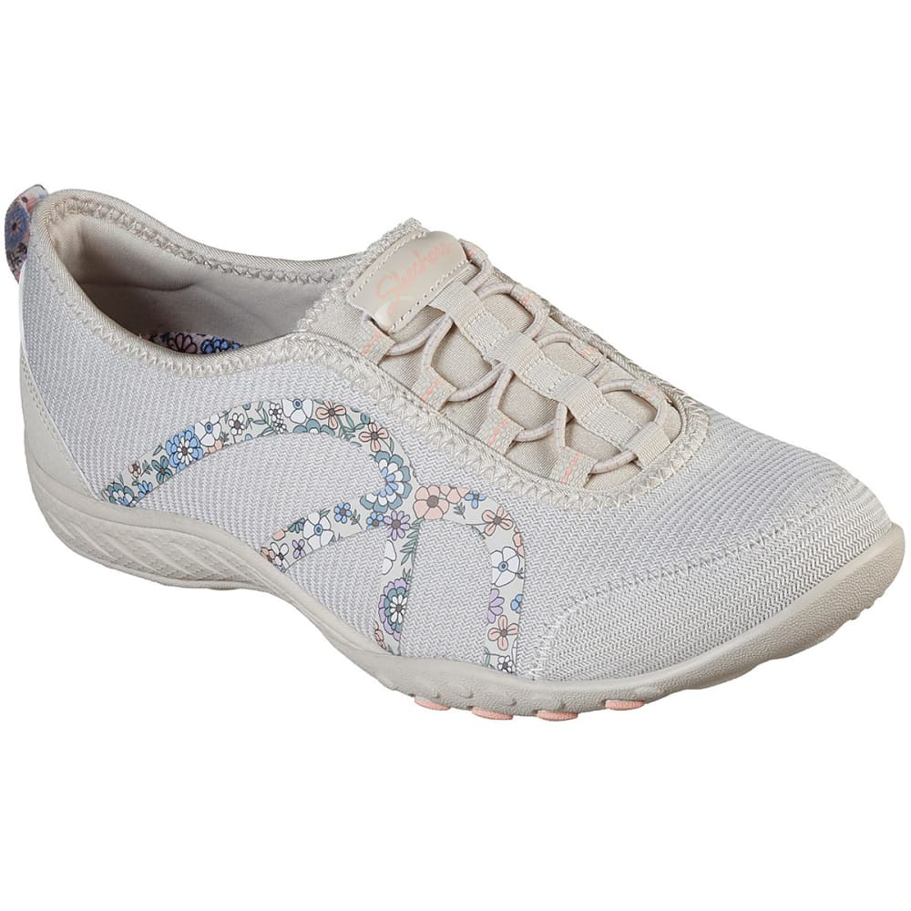 SKECHERS Women's Relaxed Fit Breathe-Easy Flower Gaze Shoes 7