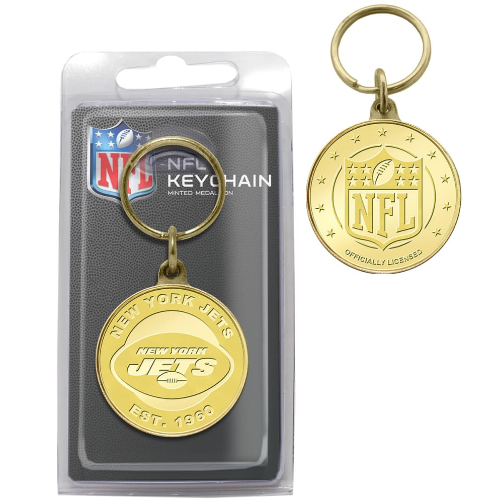 NEW YORK JETS Bronze Coin Keychain NO SIZE