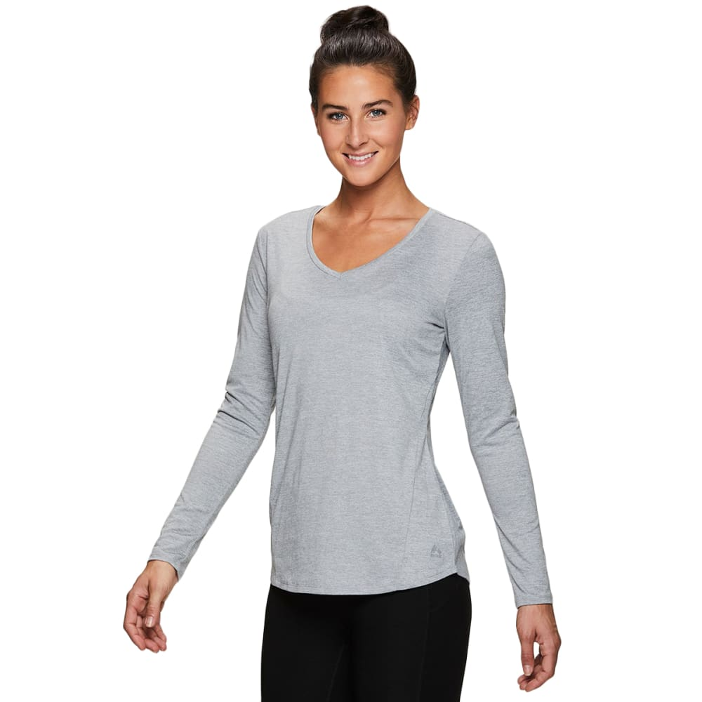 RBX Women's Stratus V-Neck Long-Sleeve Workout Tee S