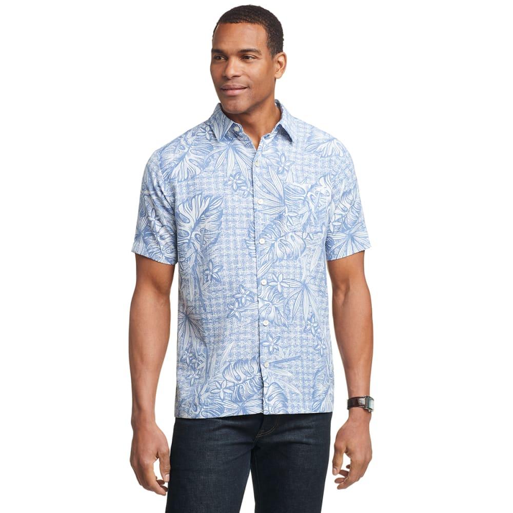 VAN HEUSEN Men's Air Short-Sleeve Printed Shirt M