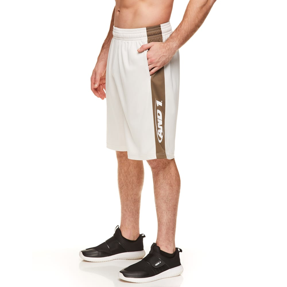 AND1 Men's Triple Double Basketball Shorts S