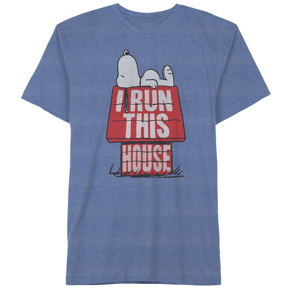 PEANUTS Kids' I Run This House Short-Sleeve Graphic Tee M