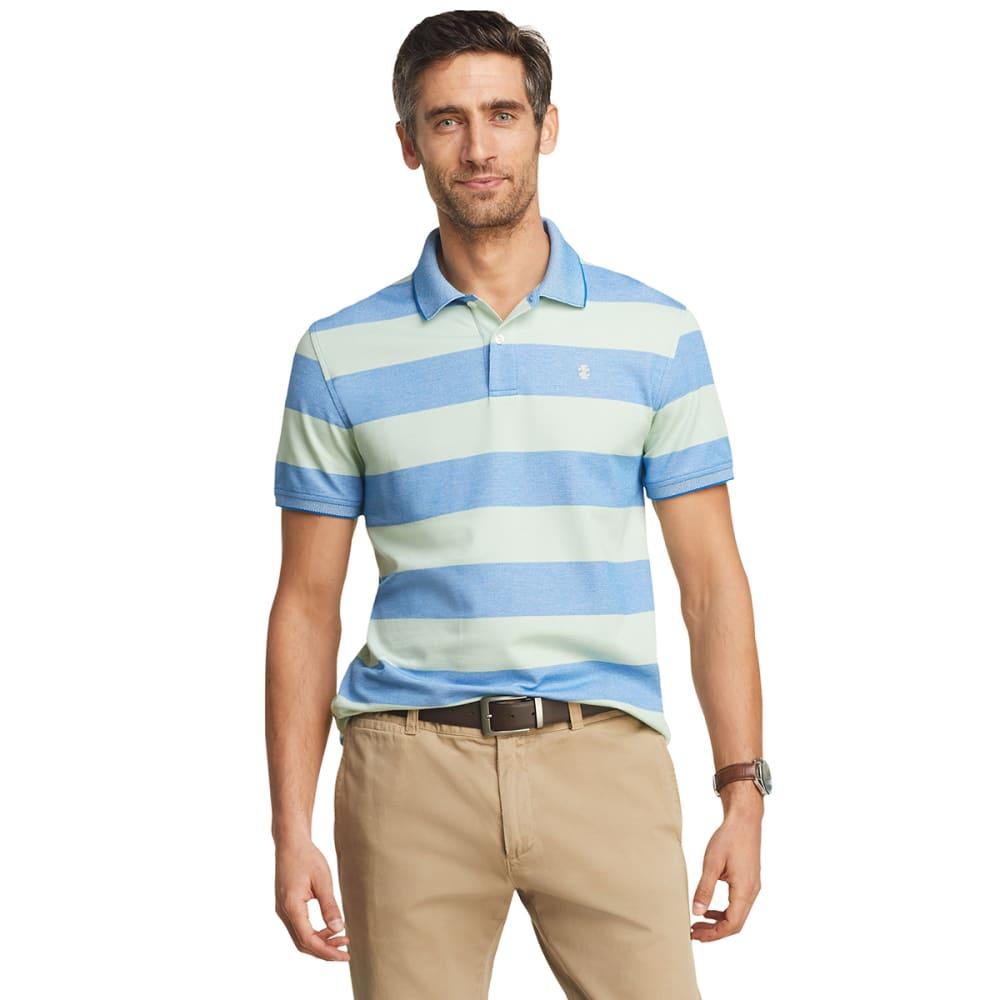 IZOD Men's Advantage Performance Striped Polo Shirt M