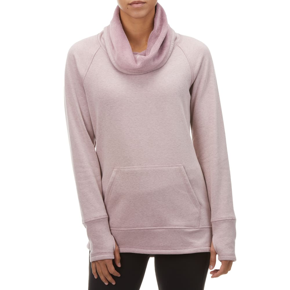 RBX Women's Faux Fur Lined Cowl Neck Pullover S