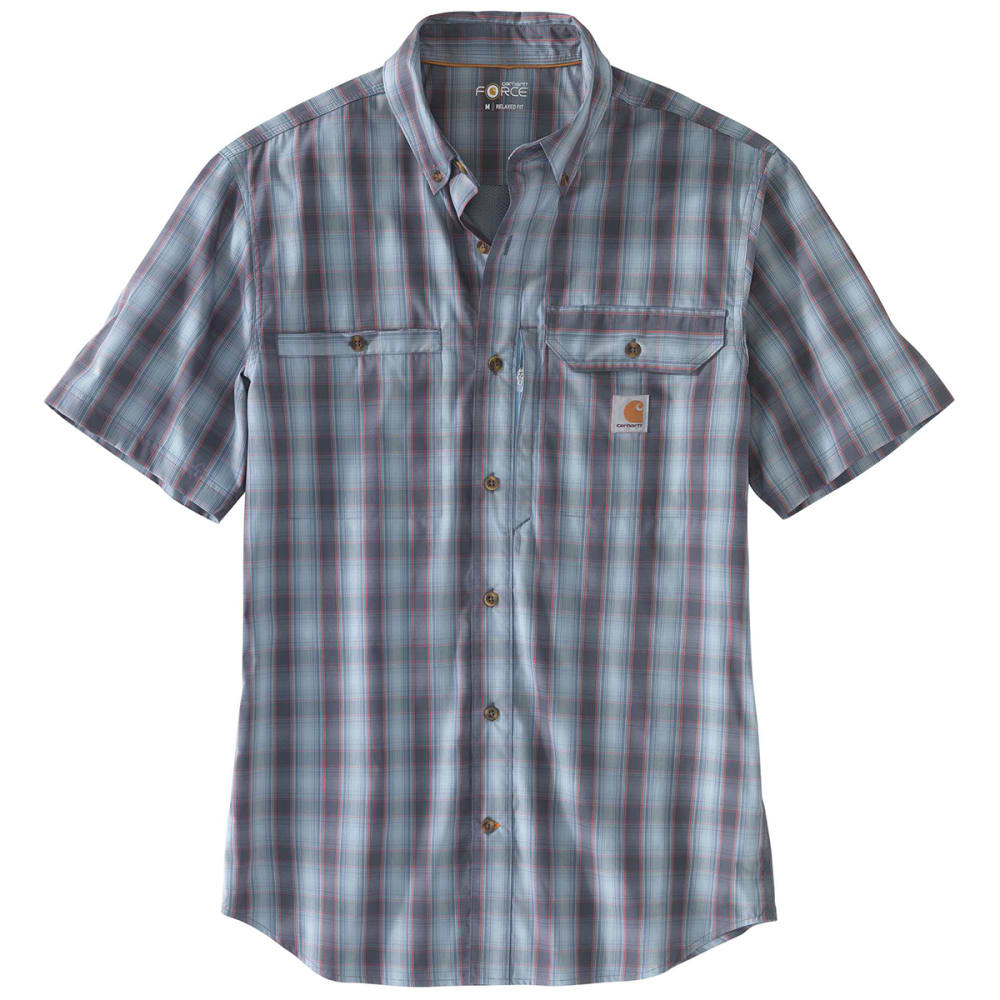 CARHARTT Men's Force Ridgefield Plaid Short-Sleeve Shirt M
