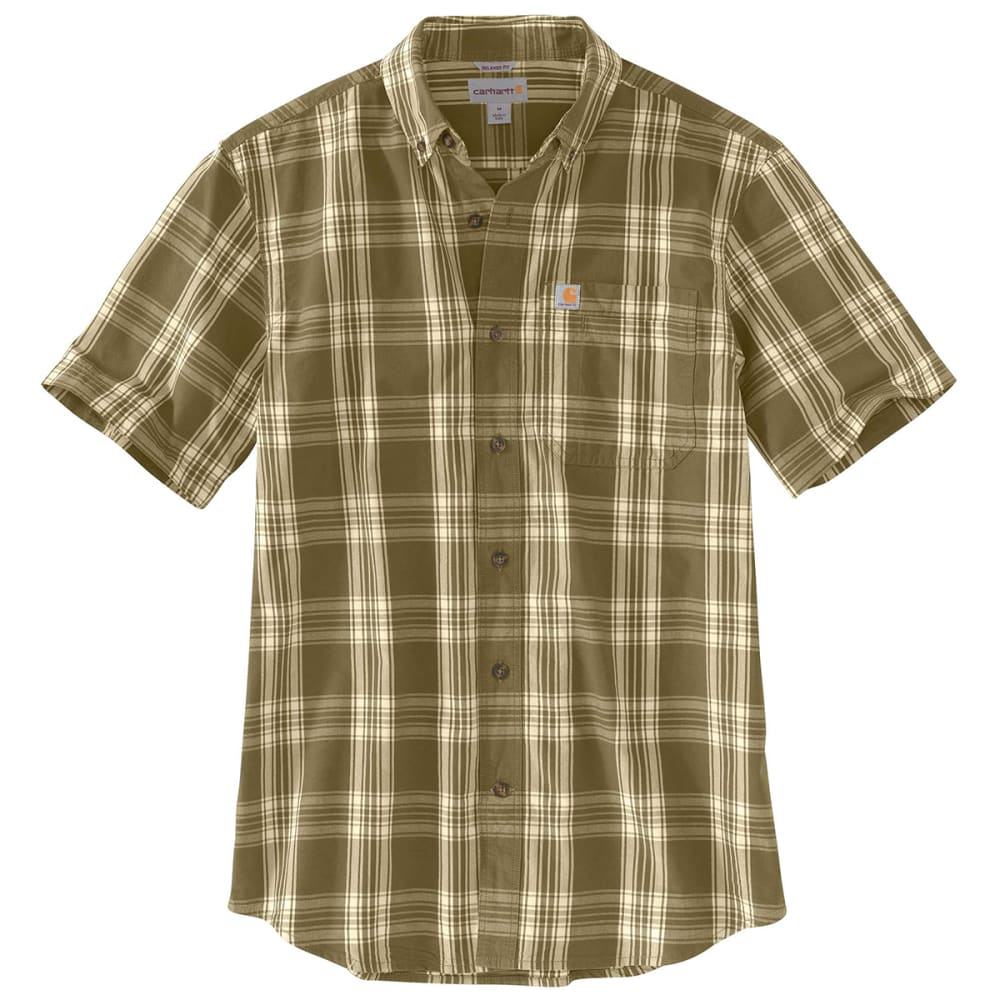 CARHARTT Men's Essential Plaid Button-Down Short-Sleeve Shirt M