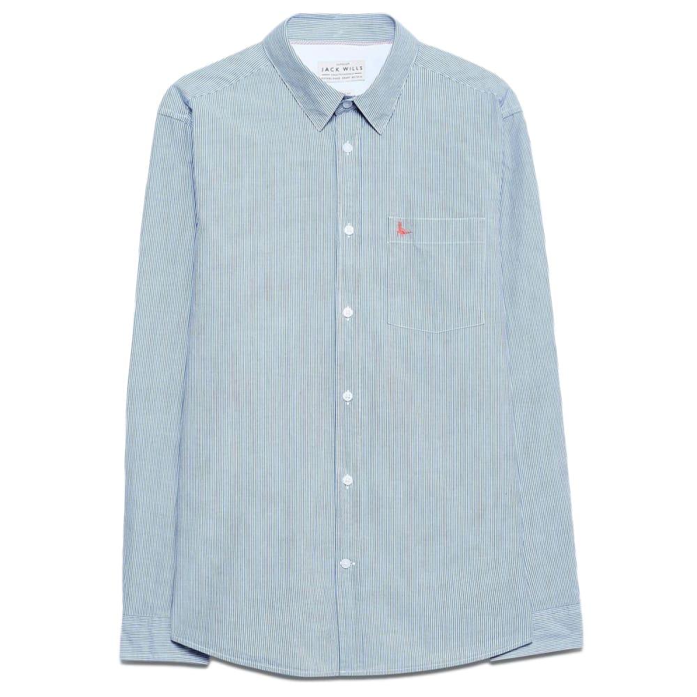 JACK WILLS Men's Abertham Classic Poplin Stripe Shirt S