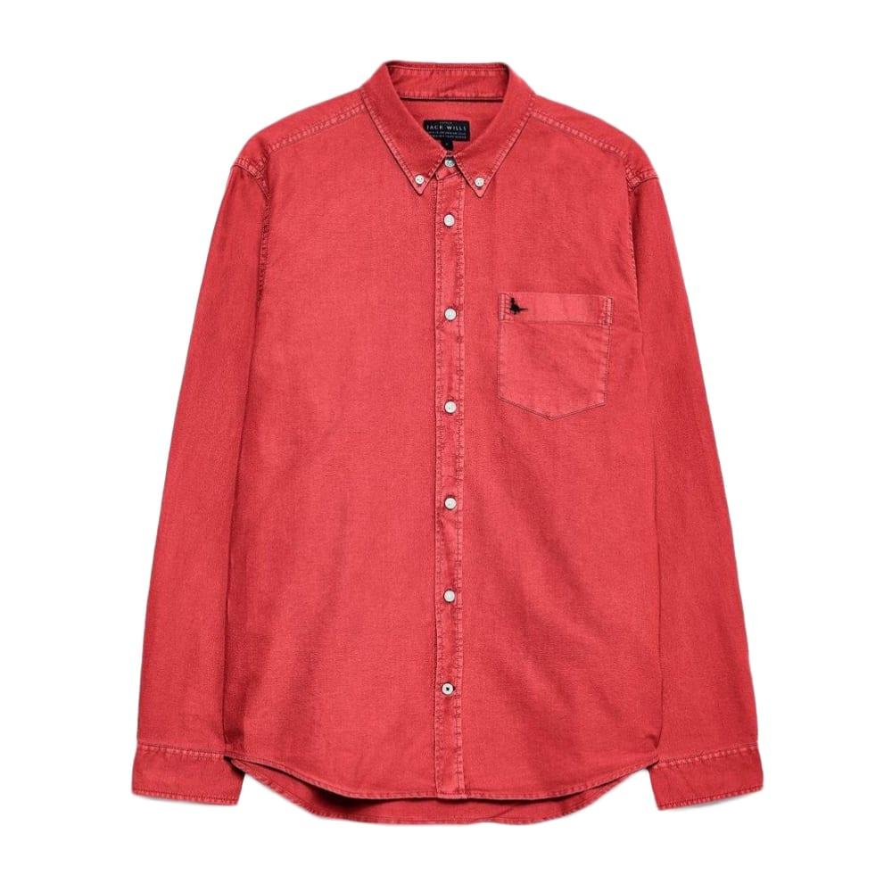 JACK WILLS Men's Atley Oxford Garment Dye Shirt XS