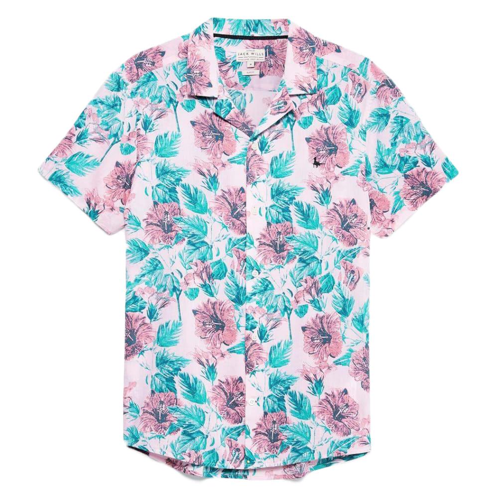 JACK WILLS Men's Meadowcroft Floral Print Shirt S
