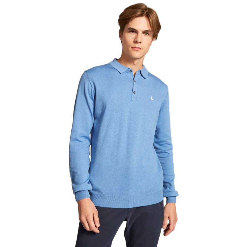 JACK WILLS Men's  Alfie Knitted Long-Sleeve Polo XS