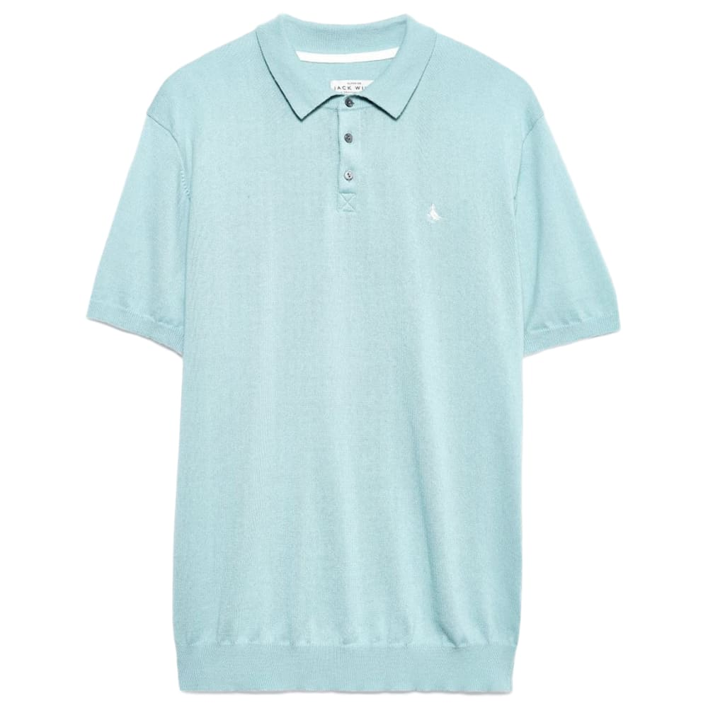 JACK WILLS Men's Brierton Knitted Short-Sleeve Polo XS