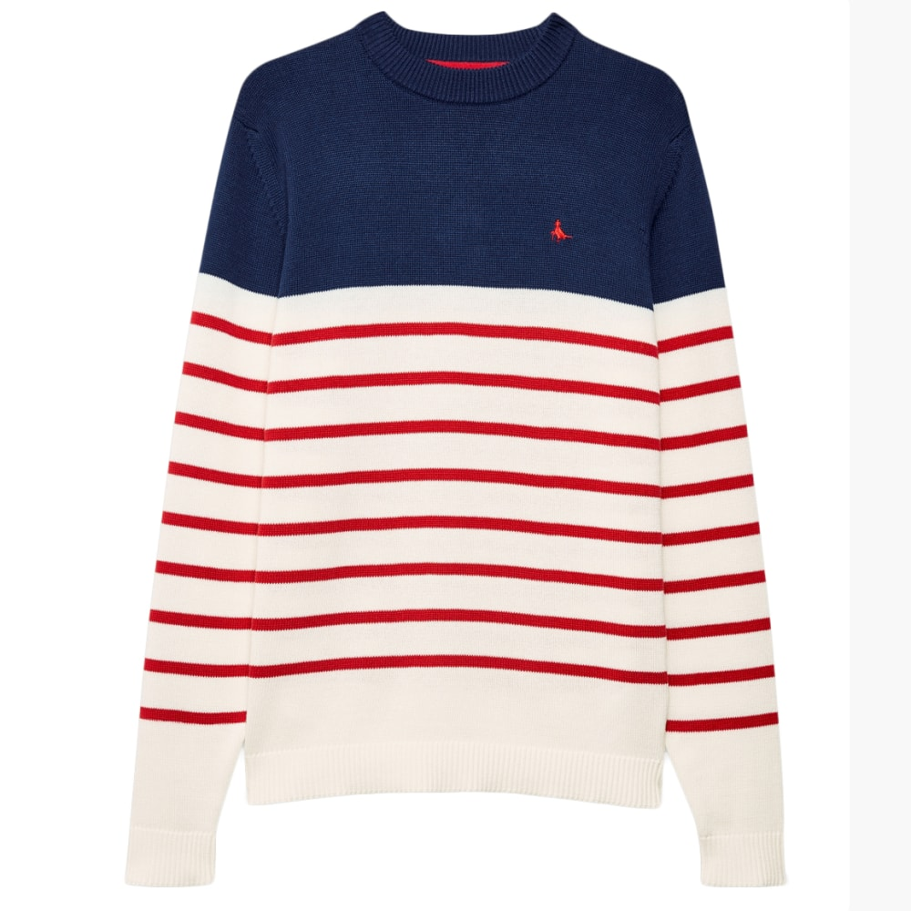 JACK WILLS Men's Elwick Knitted Stripe Sweater S