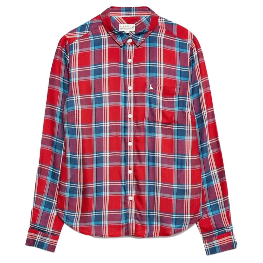 JACK WILLS Women's Tilly Drapey Checked Shirt 4