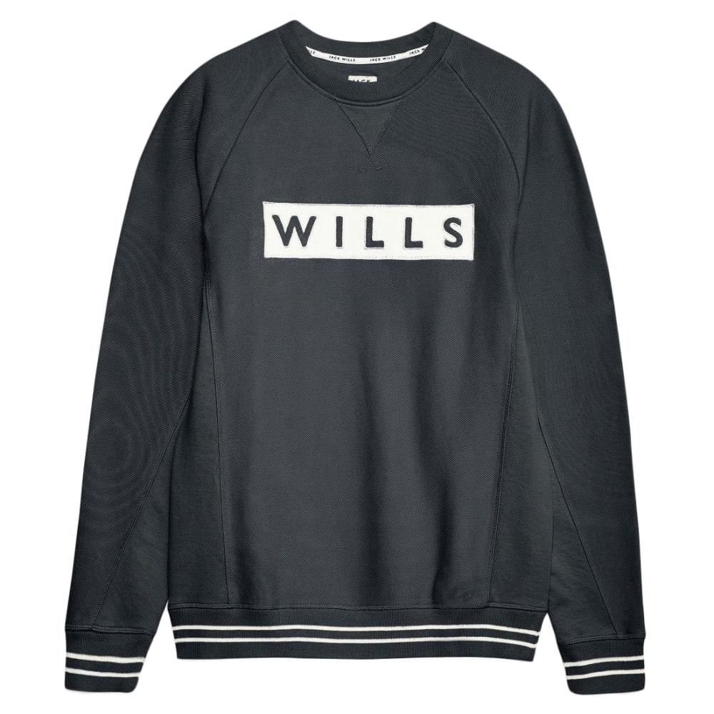 JACK WILLS Men's Harrysted Twill Applique Sweatshirt XS
