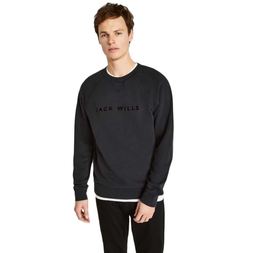 JACK WILLS Men's Wyatt Military Crew Sweatshirt S