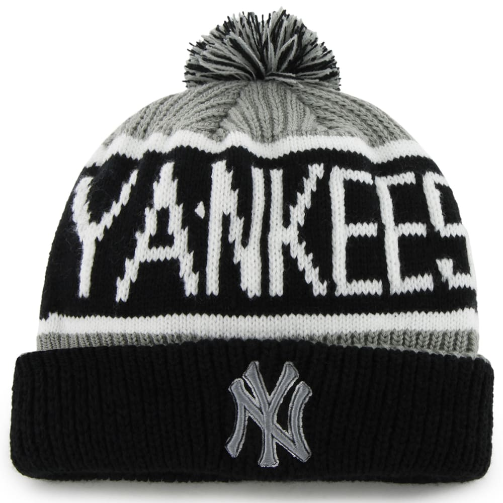 NEW YORK YANKEES Men's Calgary Cuff Knit Hat with Pom ONE SIZE