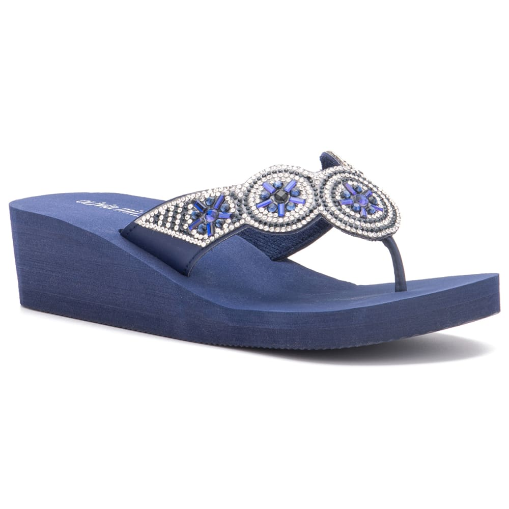 OLIVIA MILLER Women's Circle Wedge Sandals 6