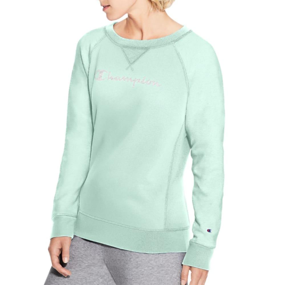 CHAMPION Women's Heritage French Terry Crew Neck Pullover Logo Sweatshirt S