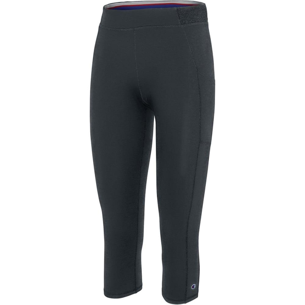 CHAMPION Women's Gym Issue Capri w/Side Pocket S