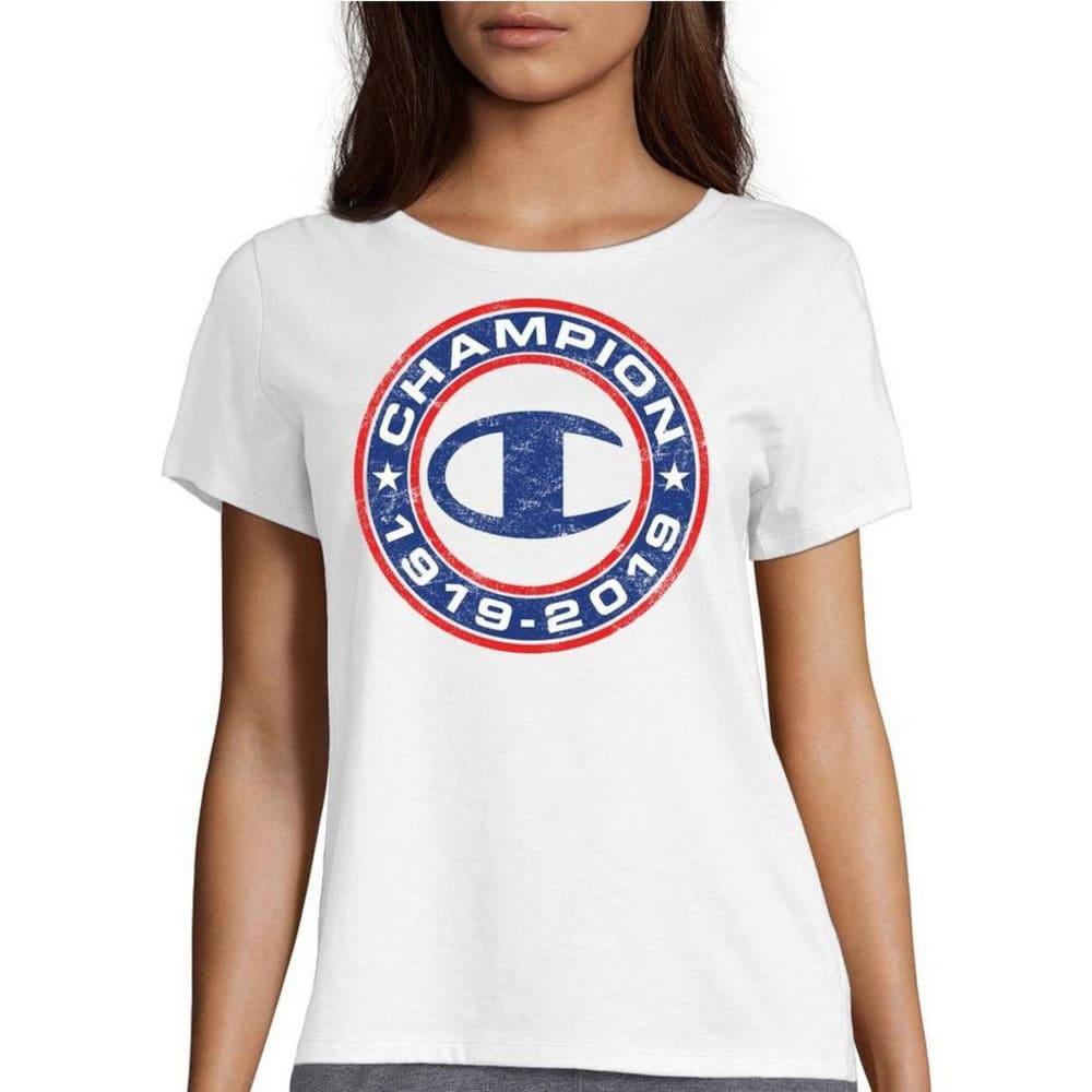 CHAMPION Women's 1919-2019 Anniversary Short-Sleeve Tee XS