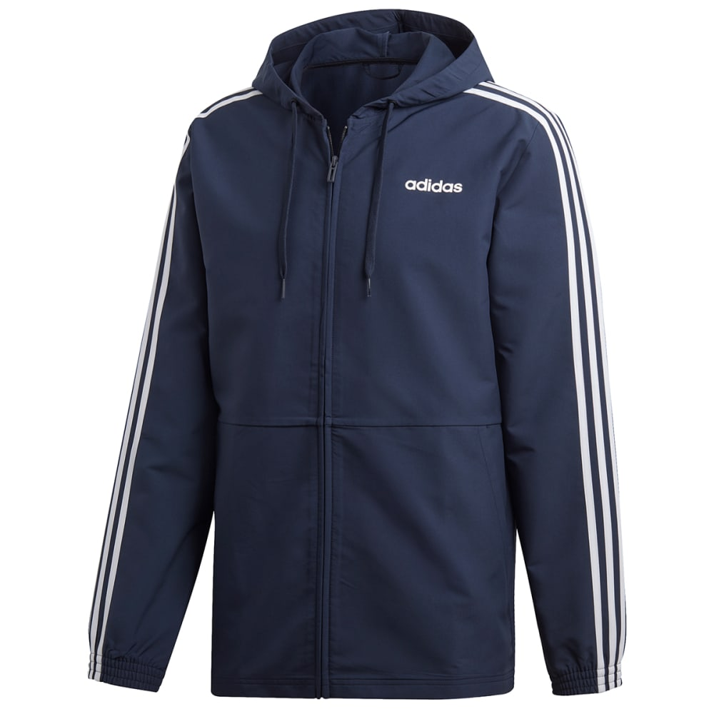 ADIDAS Men's Essentials 3-Stripes Hooded Windbreaker S