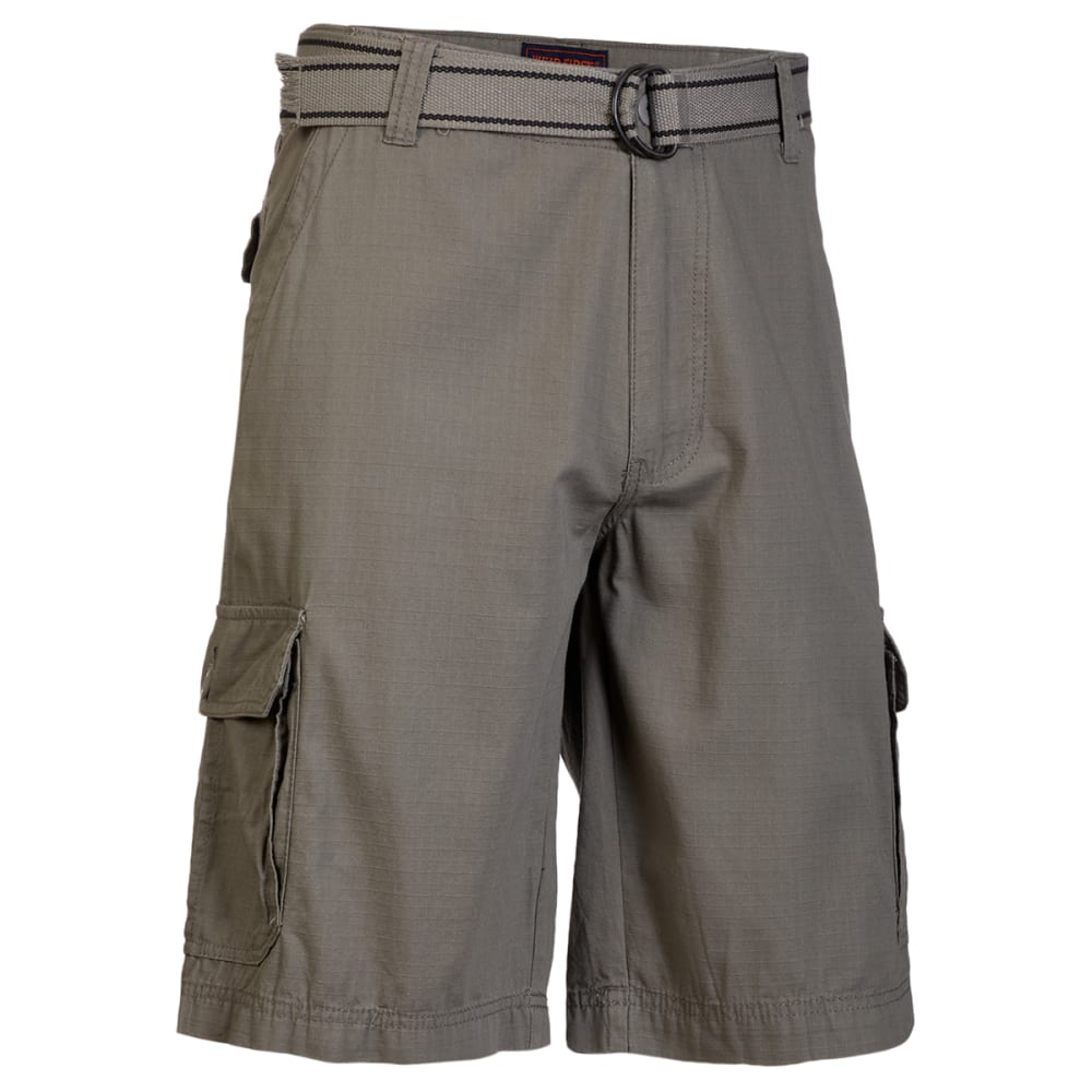 WEARFIRST Men's Ripstop Belted Cargo Short 30