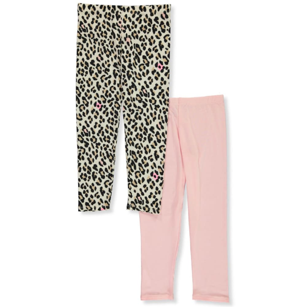 ONE STEP UP Girls' 7-16 Solid and Print Legging Set, 2 Pairs 10-12