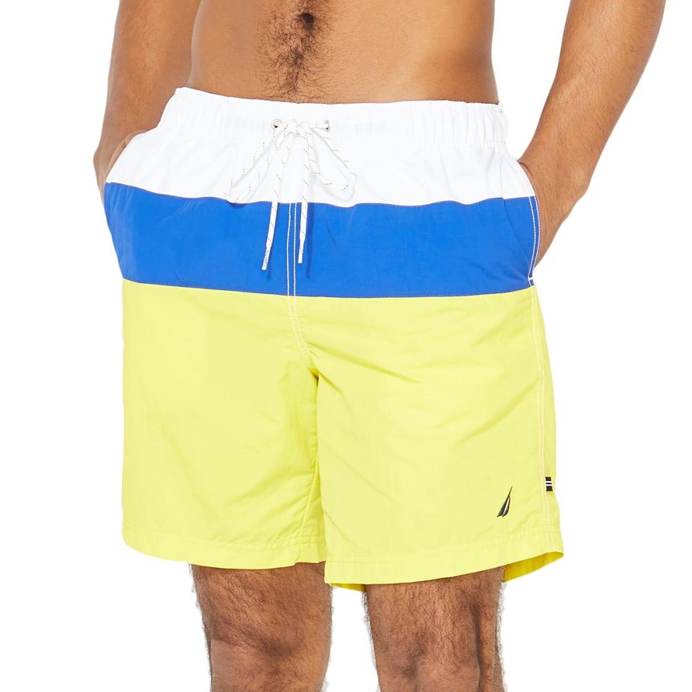 NAUTICA Men's Tri-Block Quick-Dry Swim Trunks XL