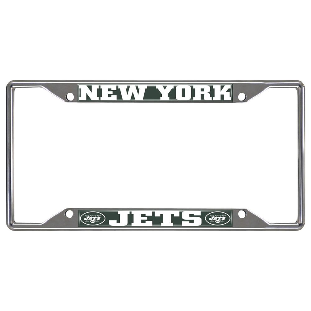 NEW YORK JETS Fanmats NFL License Plate Frame ONE SIZE