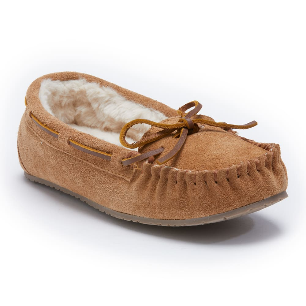 MINNETONKA Women's Trapper Faux Fur Lined Moccasin Slipper 5