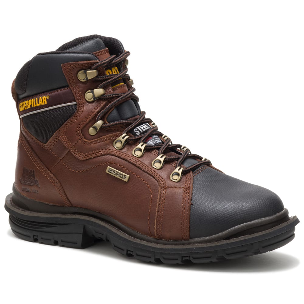 "CAT Men's Flexion Manifold 6"" in. Waterproof Steel Toe Thinsulate Work Boots 8.5"