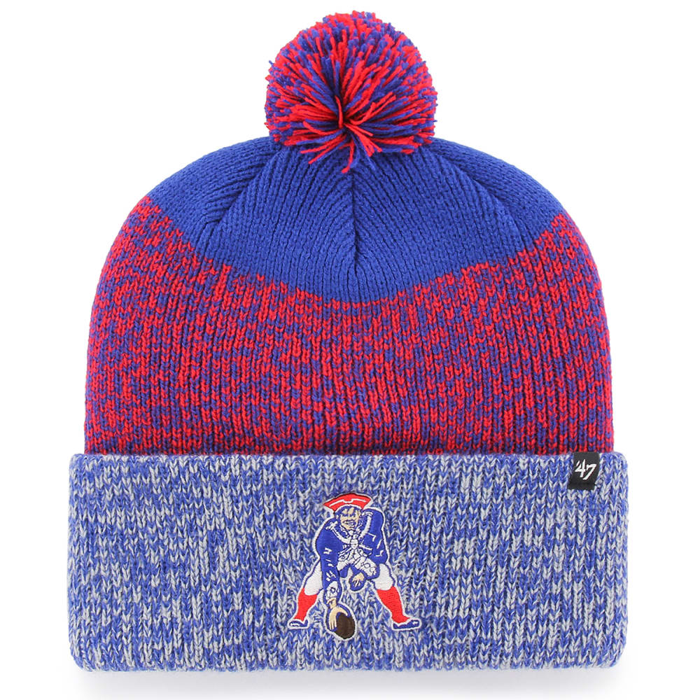 NEW ENGLAND PATRIOTS Men's '47 Cuff Knit Hat with Pom ONE SIZE