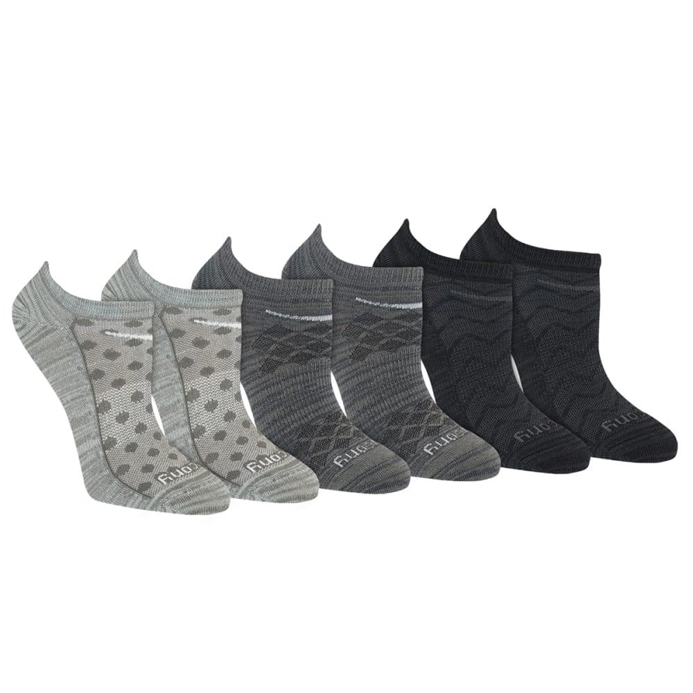 SAUCONY Women's Run Dry No-Show Socks, 6-Pack M