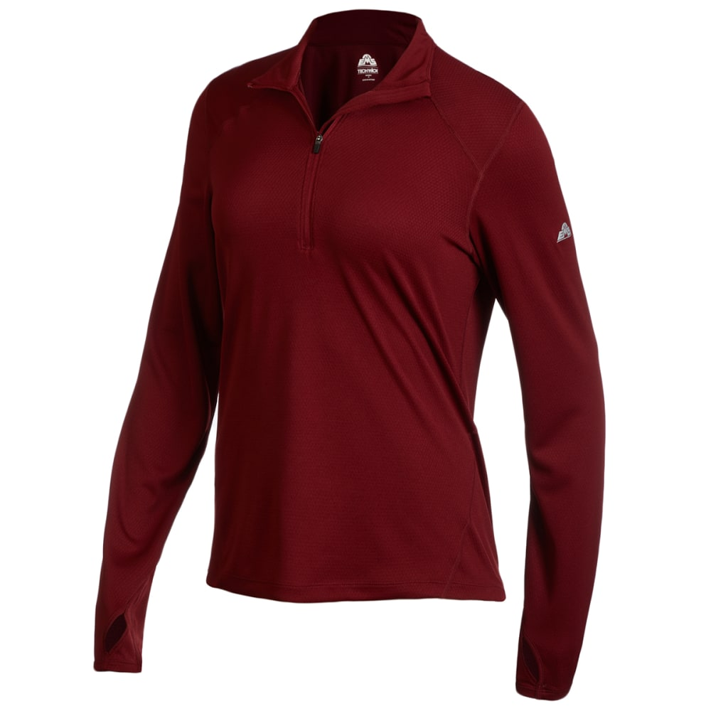 EMS Women's Medium Weight Synthetic Base Layer 1/2-Zip Pullover L