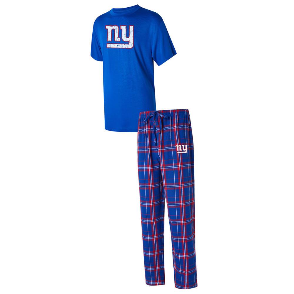 NEW YORK GIANTS Men's Ethos Tee & Pants Sleep Set M