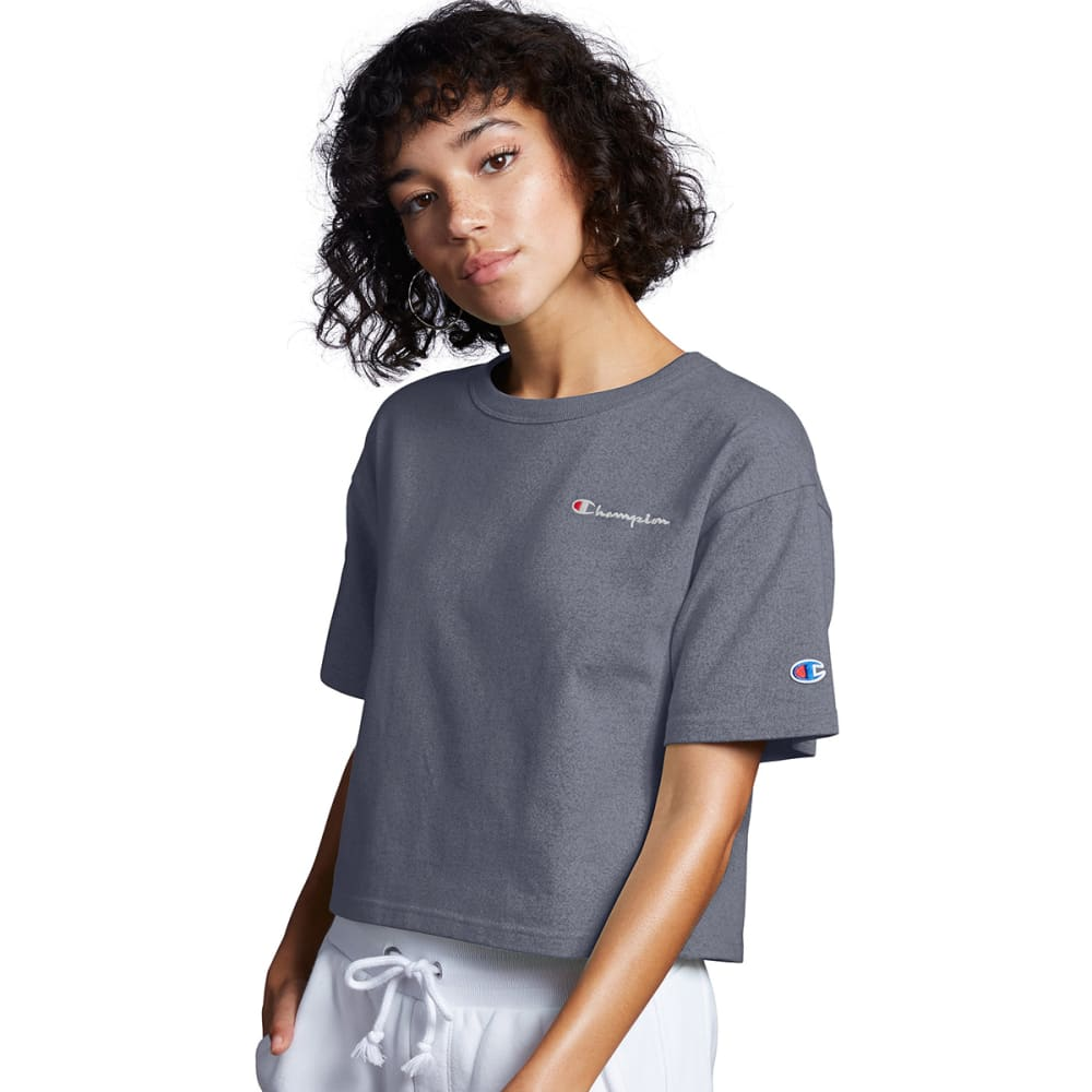 CHAMPION Women's Heritage Cropped Short-Sleeve Tee S
